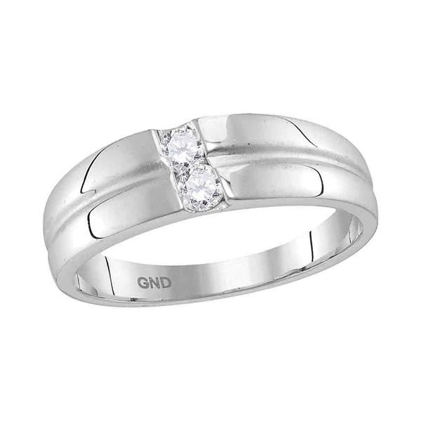 Diamond Band Ring 1/4 Cttw 10kt White Gold