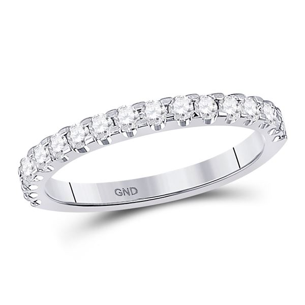 Diamond Wedding Machine-Set Band 1/2 Cttw 14kt White Gold