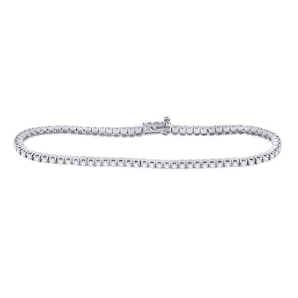 Diamond Classic Tennis Bracelet 2 Cttw 14kt White Gold