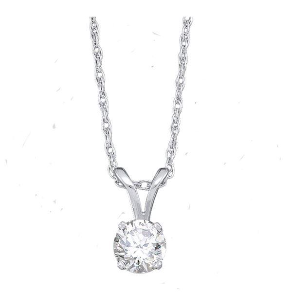 Diamond Solitaire Pendant 1 Cttw 14kt White Gold