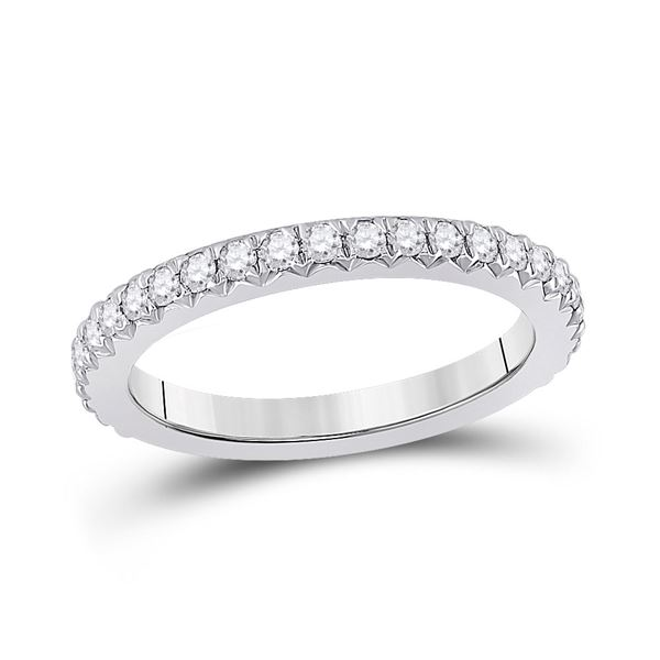 Diamond Eternity Wedding Band 3/4 Cttw 14kt White Gold