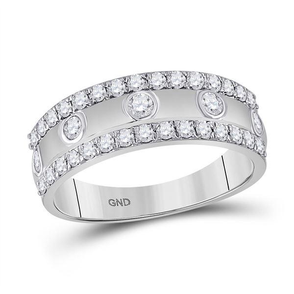 Diamond Anniversary Ring 3/4 Cttw 10kt White Gold