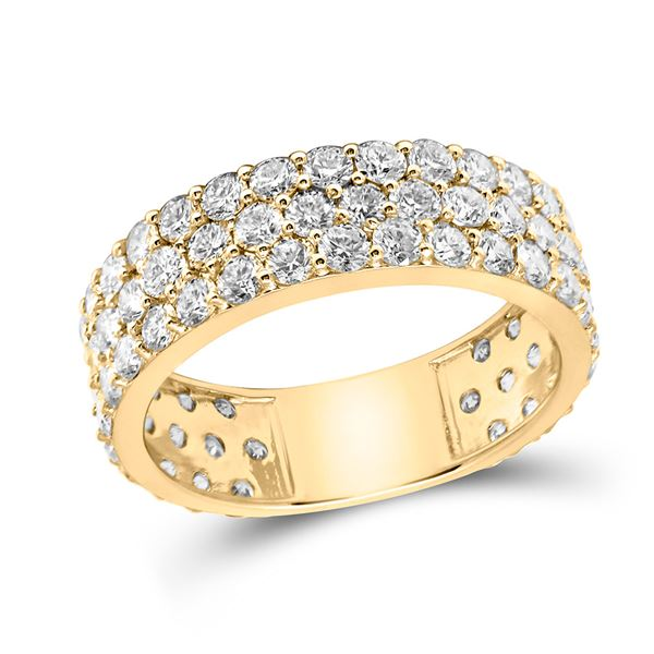 Diamond Pave Band Ring 3 Cttw 14kt Yellow Gold
