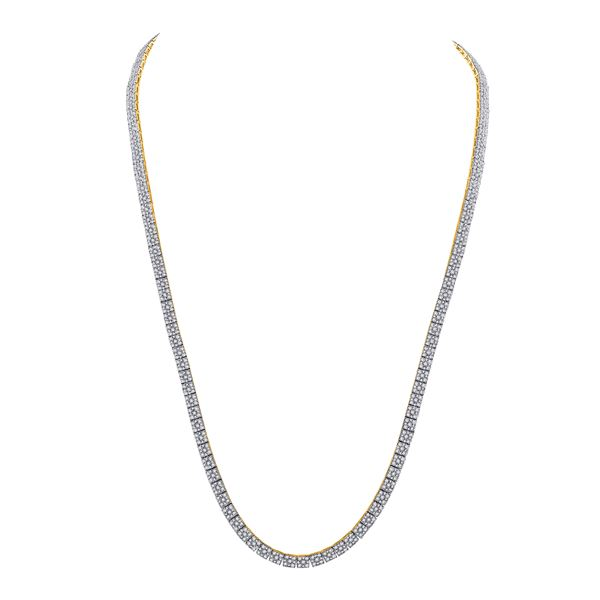 Mens Diamond Fashion Chain Necklace 12 Cttw 10kt Yellow Gold