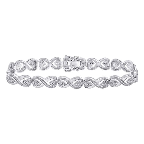 Diamond Infinity Bracelet 1/4 Cttw Sterling Silver