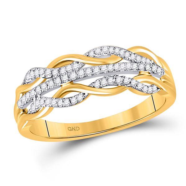 Diamond Twist Band Ring 1/6 Cttw 10kt Yellow Gold