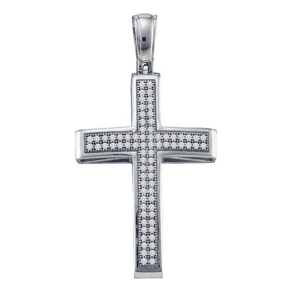 Diamond Cross Pendant 1/4 Cttw 10kt White Gold