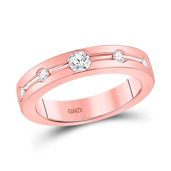 Diamond Wedding Band 1/4 Cttw 14kt Rose Gold