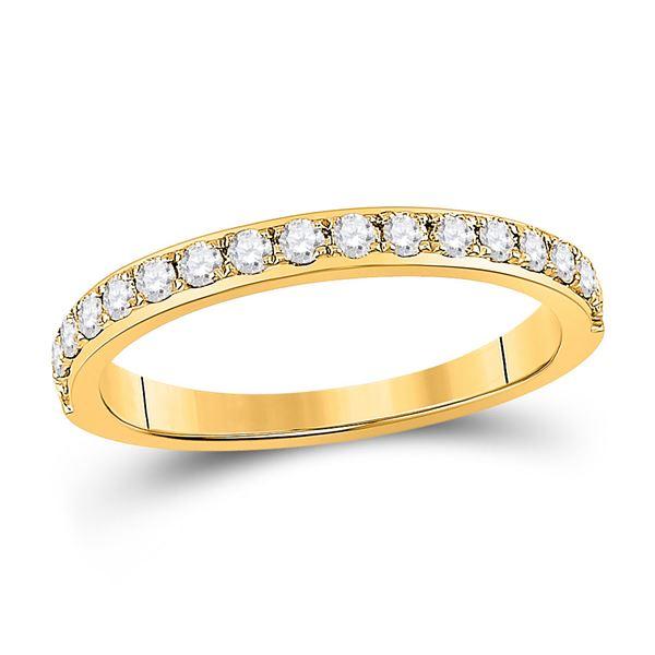 Diamond Wedding Single Row Band 1/3 Cttw 14kt Yellow Gold