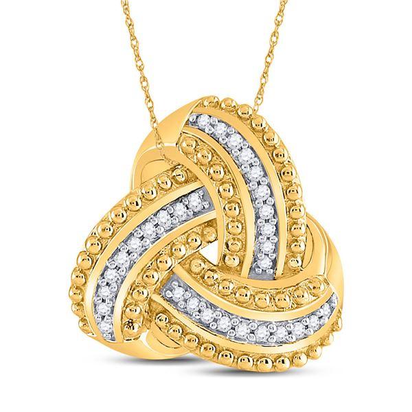 Diamond Celtic Knot Fashion Pendant 1/10 Cttw 10kt Yellow Gold