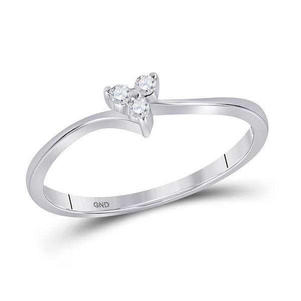 Diamond Heart Promise Ring 1/20 Cttw 10kt White Gold