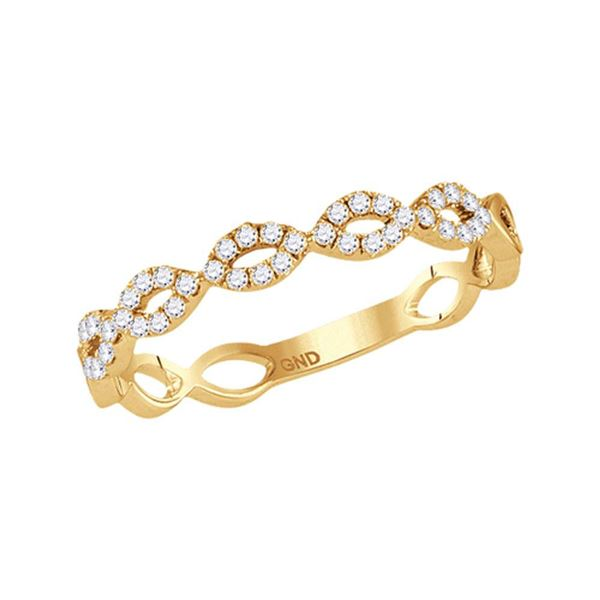 Diamond Stackable Band Ring 1/5 Cttw 10kt Yellow Gold