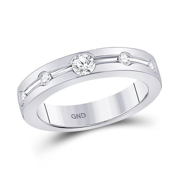 Diamond Wedding Band 1/4 Cttw 14kt White Gold