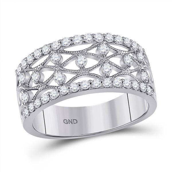 Diamond Band Ring 5/8 Cttw 14kt White Gold