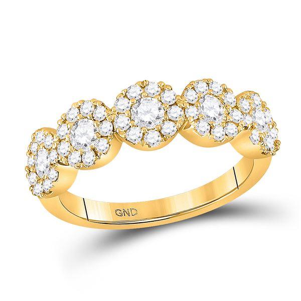 Diamond Circle 5-stone Ring 1 Cttw 14kt Yellow Gold