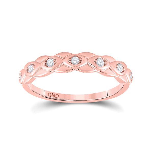 Diamond Band Ring 1/10 Cttw 10kt Rose Gold