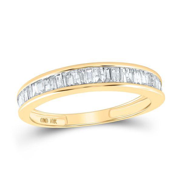 Baguette Diamond Wedding Band 1/2 Cttw 10kt Yellow Gold