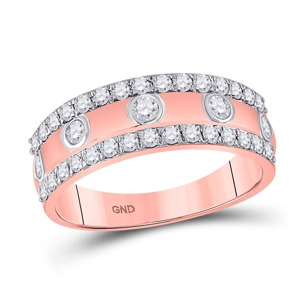 Diamond Anniversary Ring 3/4 Cttw 10kt Rose Gold