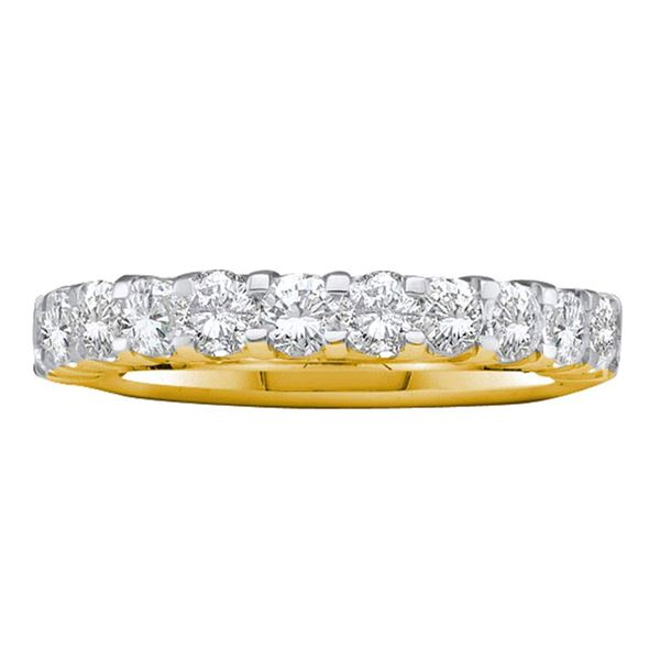 Machine Set Diamond Wedding Band 1 Cttw 14kt Yellow Gold