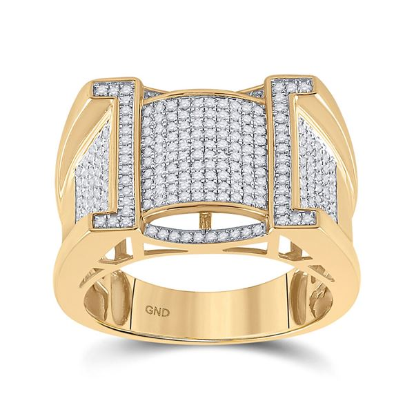 Mens Diamond Band Ring 5/8 Cttw 10kt Yellow Gold