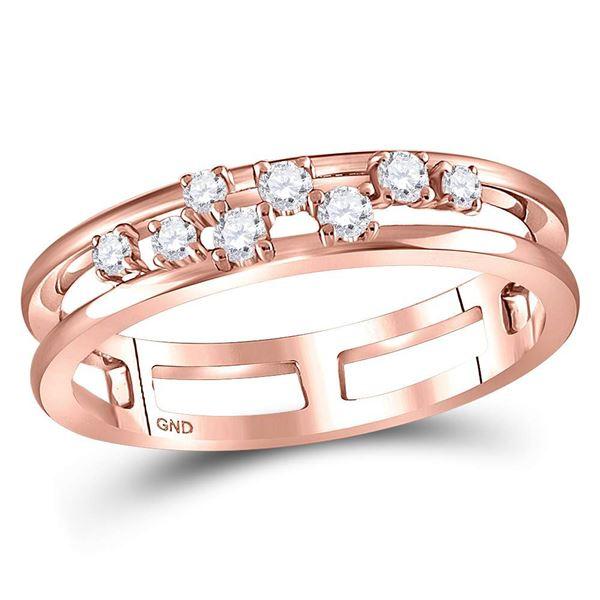Diamond Split Band Ring 1/5 Cttw 10kt Rose Gold