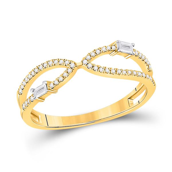 Baguette Diamond Fashion Ring 1/6 Cttw 14kt Yellow Gold