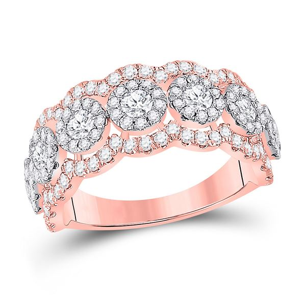 Diamond Anniversary Band Ring 1-1/2 Cttw 14kt Rose Gold