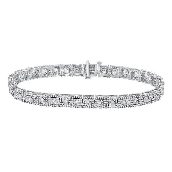 Diamond Tennis Bracelet 3 Cttw 10kt White Gold