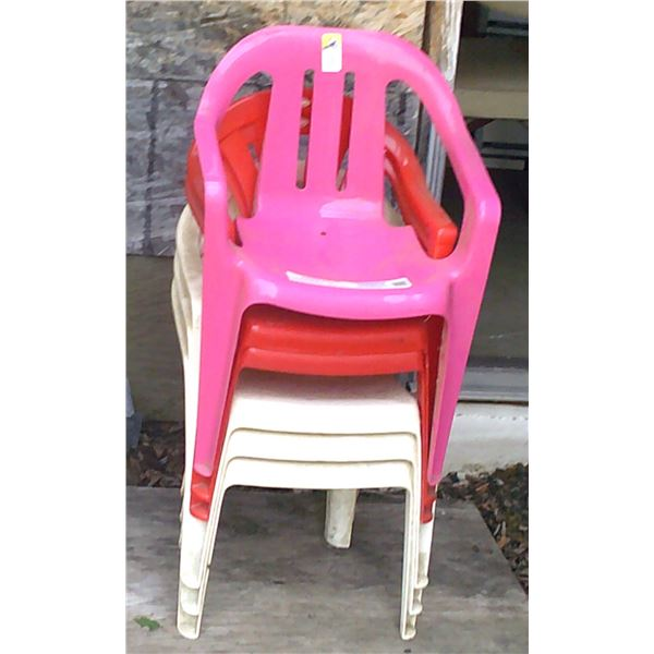 FIVE Childrens Chairs