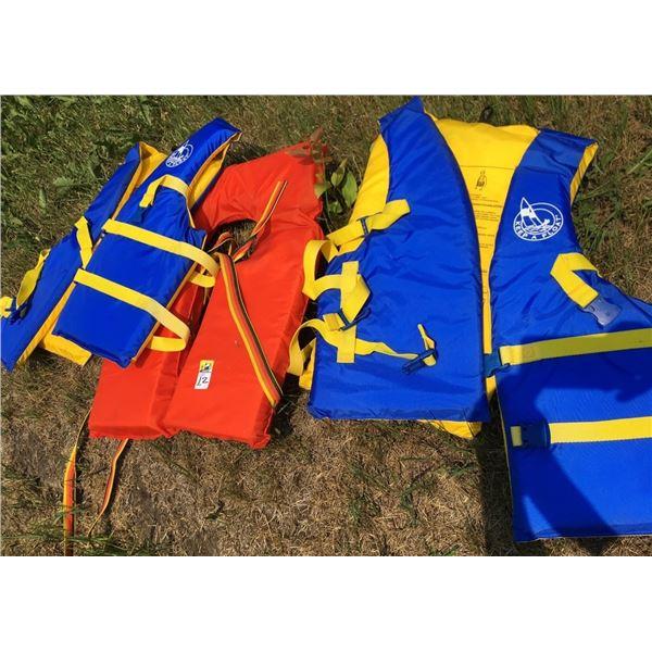 THREE Life jackets