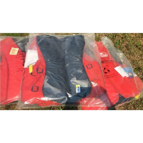 THREE life jackets NEW