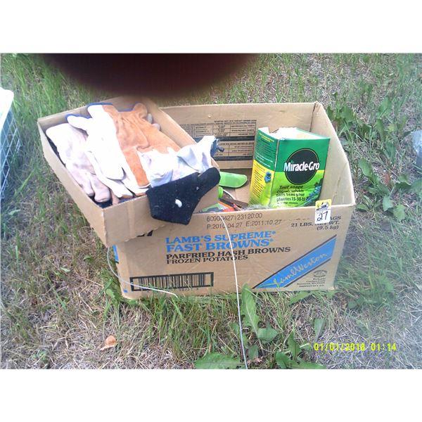 Box of Gardening Supplies