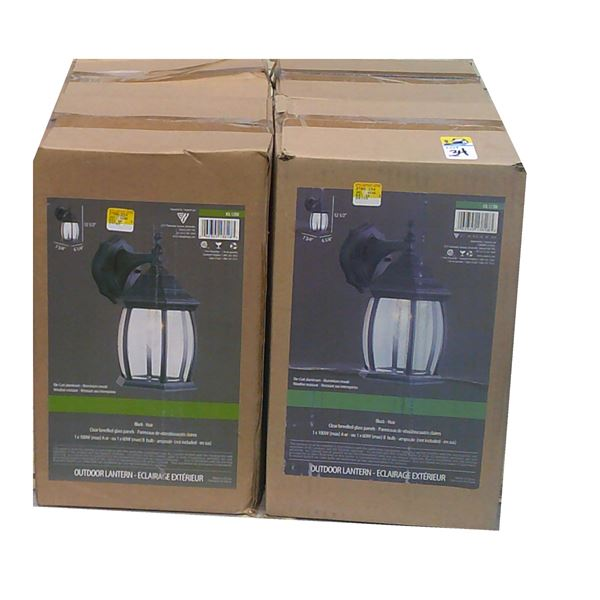 FOUR BLACK Lantern Light Fixtures