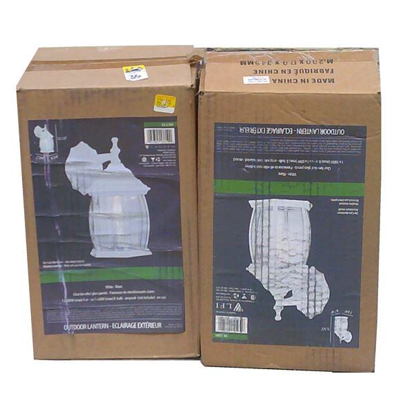 TWO White Lantern Light Fixtures