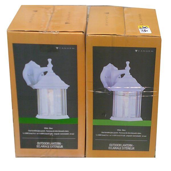 TWO Canarm White Lantern Light Fixtures