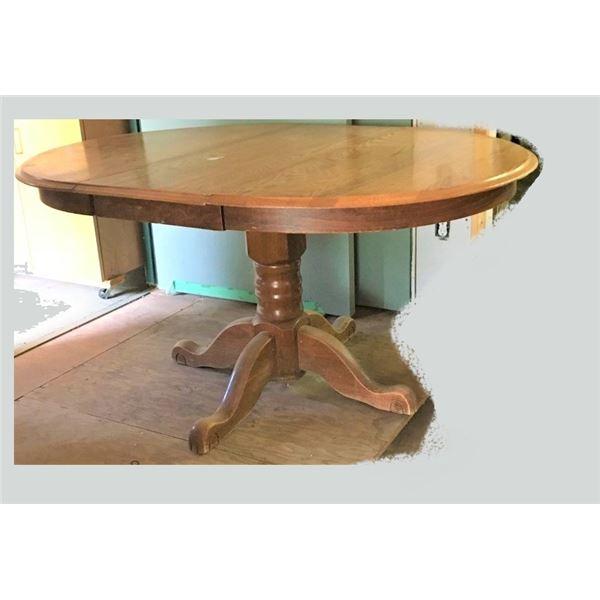 Pedestal Table with Leaf
