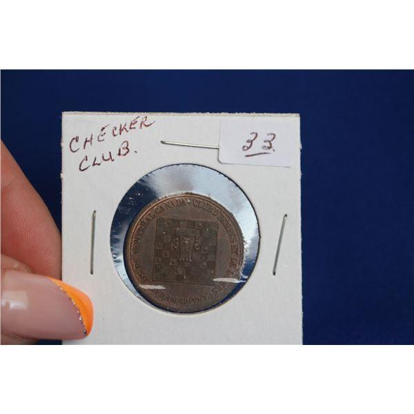 "CANADA ""CHECKERS CLUB"" Coin, MONTREAL, CANADA"