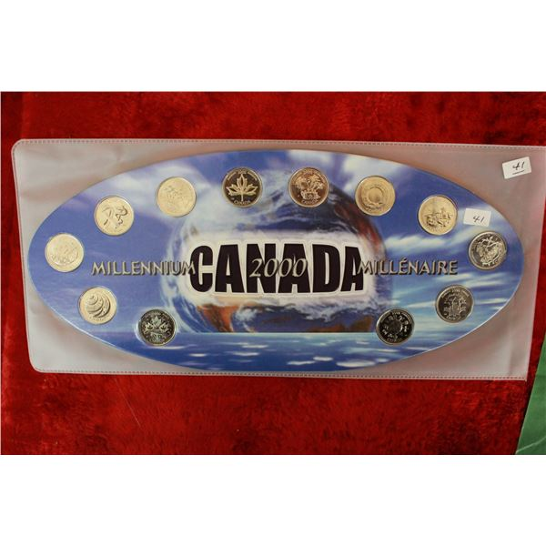 Canada Twenty-five Cent Coins (12) - 2000
