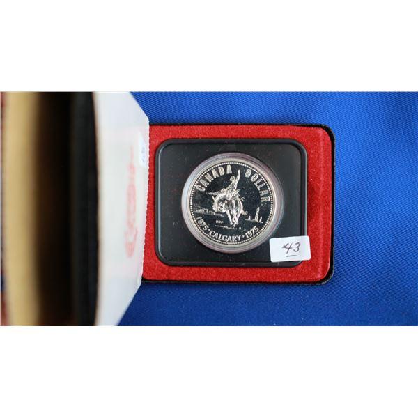 Canada One Dollar Coin - 1975, Silver