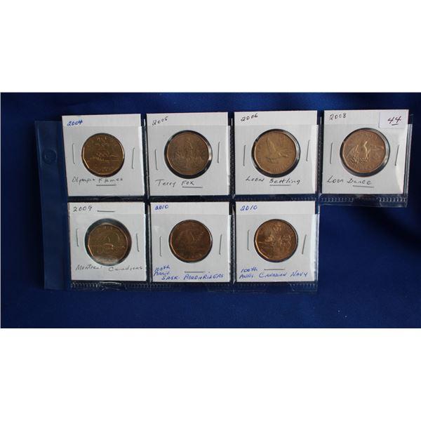 Canada One Dollar Coins (7) - Loonies