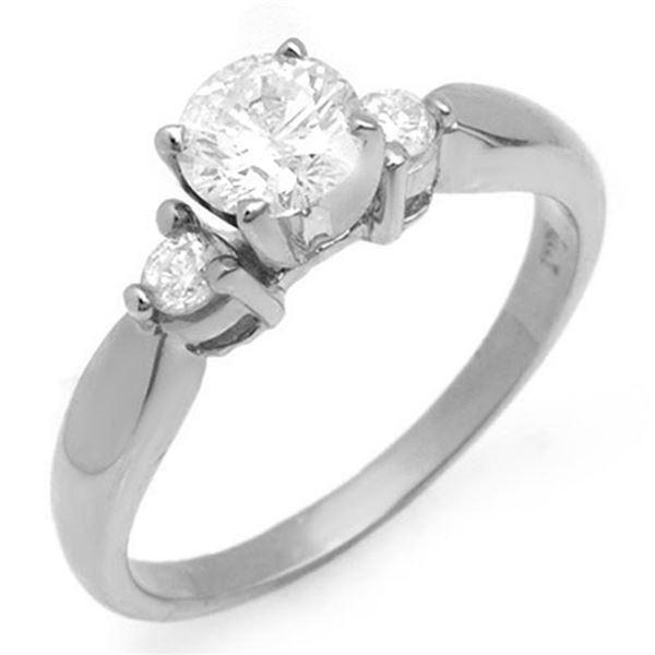 0.75 ctw Certified VS/SI Diamond Solitaire Ring 18k White Gold - REF-130R8K
