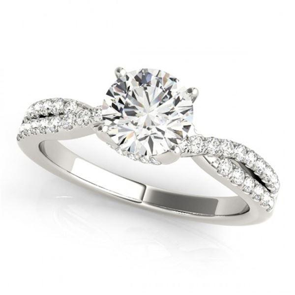 0.8 ctw Certified VS/SI Diamond Ring 18k White Gold - REF-107Y8X