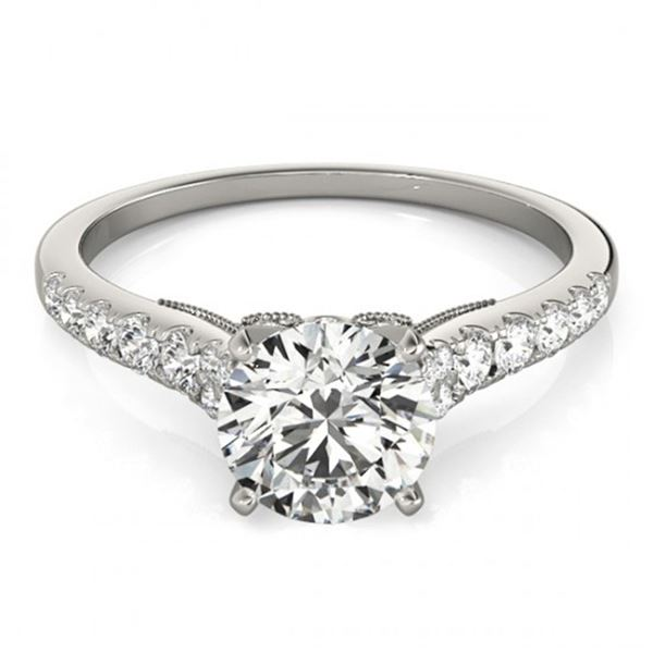 0.75 ctw Certified VS/SI Diamond Ring 18k White Gold - REF-62Y8X