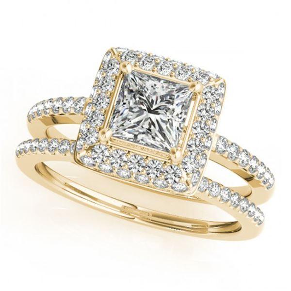 1.01 ctw Certified VS/SI Princess Diamond 2pc Set Halo 14k Yellow Gold - REF-111Y8X