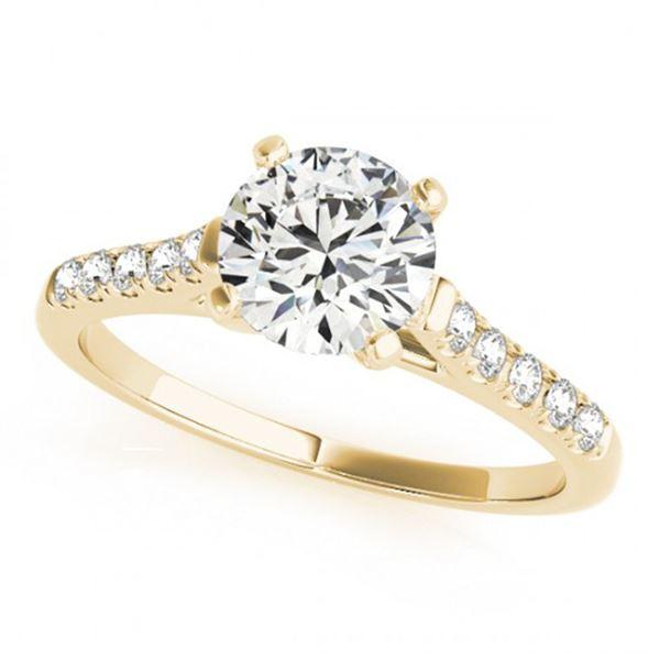 0.77 ctw Certified VS/SI Diamond Ring 18k Yellow Gold - REF-100Y9X