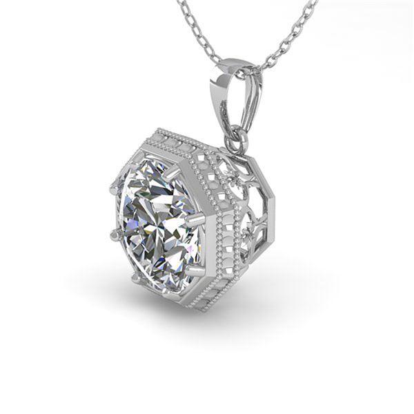 0.50 ctw VS/SI Diamond Necklace Art Deco 18k White Gold - REF-97K3Y