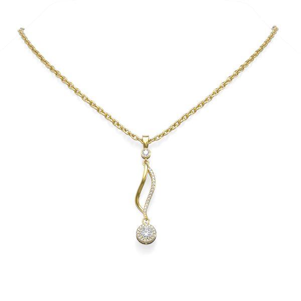 0.81 ctw Diamond Necklace 18K Yellow Gold - REF-95X8A