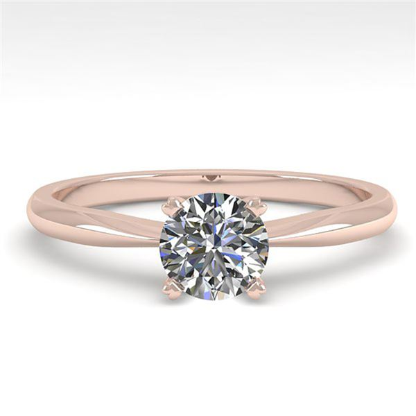 0.54 ctw VS/SI Diamond Engagment Designer Ring 18k Rose Gold - REF-72H4R