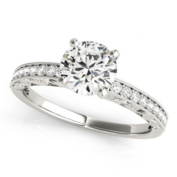 0.5 ctw Certified VS/SI Diamond Micro Pave Ring 18k White Gold - REF-54H3R