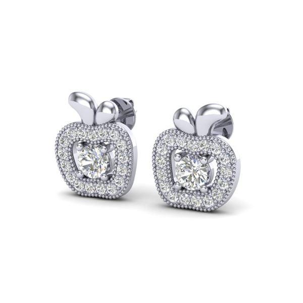 0.60 ctw VS/SI Diamond Micro Pave Earrings 18k White Gold - REF-47W9H